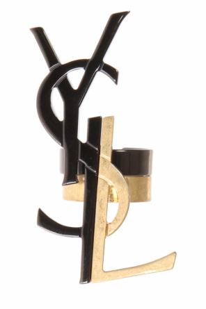 Logo-shaped rings od Saint Laurent